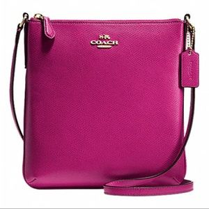 Coach North South Crossbody Messenger Bag Pink